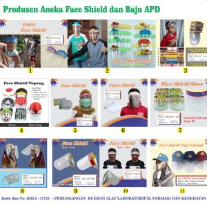 Aneka Face Shield atau Masker Pelindung Wajah